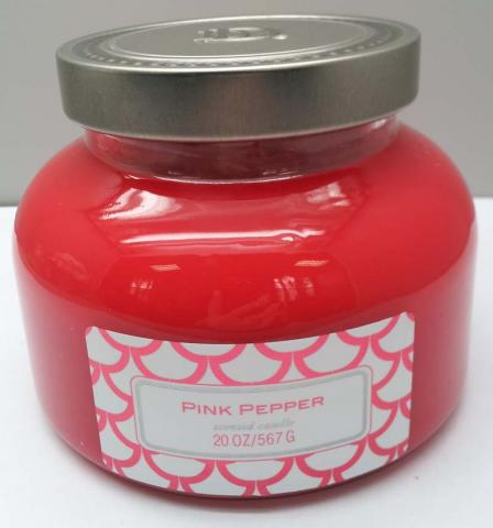DD brand 20-ounce decorative jar candle