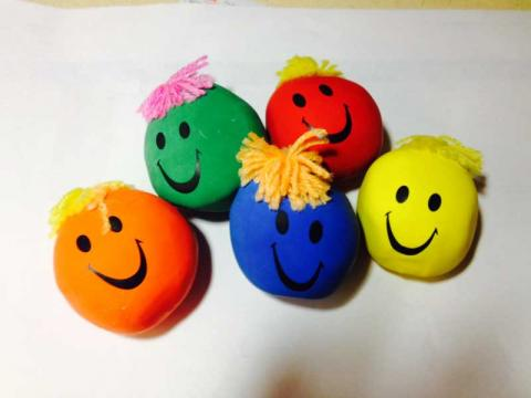 Gift Gallery Moody Face Stress Balls (assorted colors)