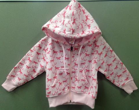 Kiddie Korral Girl Hoodie Pony/Pink