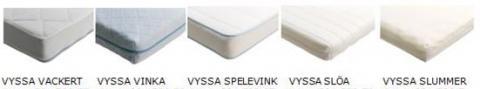 Five styles of VYSSA crib mattress