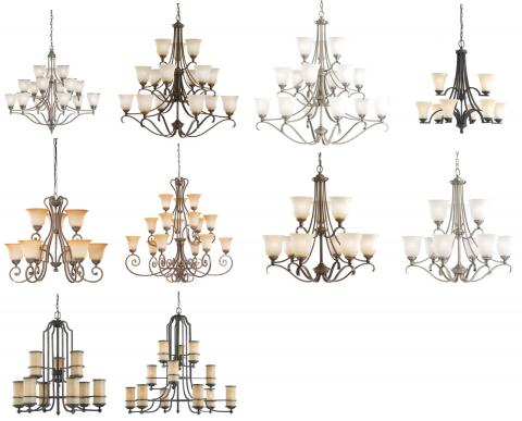 10 versions of recalled seagull chandeliers please see chart in recall for full images of - Sea Gull Lighting