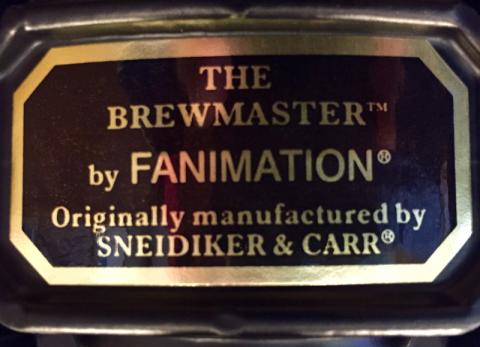 Brewmaster Label found on Brewmaster FP10** and FP20**
