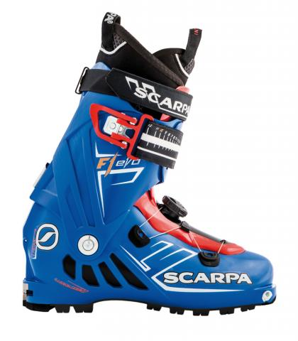 Men's F1 EVO ski boot with Tronic system component