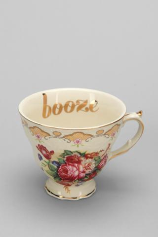 "Urban Outfitters ""booze"" teacup"