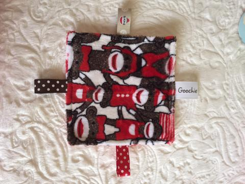 Monkey Print Sensory Grab Garbs Blanket