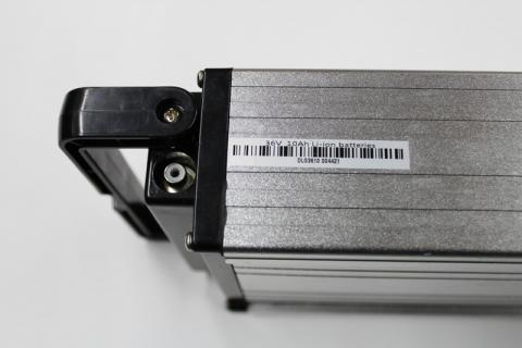 Location of the serial number on Pedego electric bike metal batteries