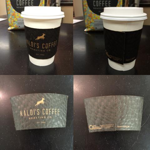 Kaldi's Retail Coffee Sleeves