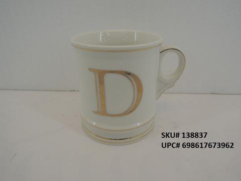 Tri-Vista Monogram Beverage Mug with Metallic Accents