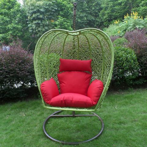 Green apple-shaped swing chair