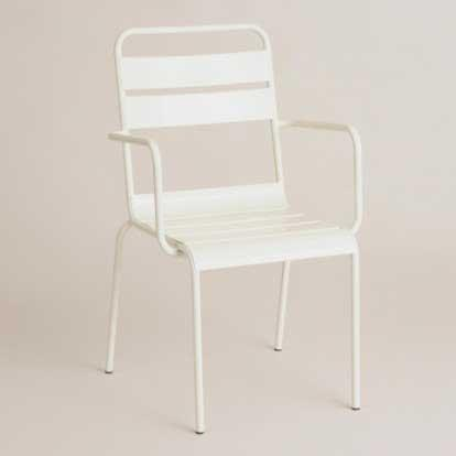Cost Plus World Market Ronan Bistro Chair Antique White SKU 502281