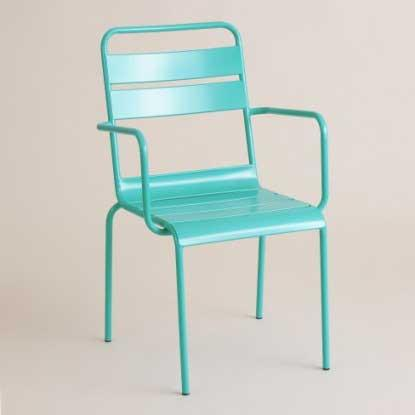 Cost Plus World Market Ronan Bistro Chair Lagoon Blue SKU 502283