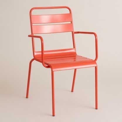 Cost Plus World Market Ronan Bistro Chair Poinciana SKU 502282