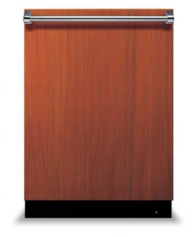 Viking Range dishwasher, custom wood panel