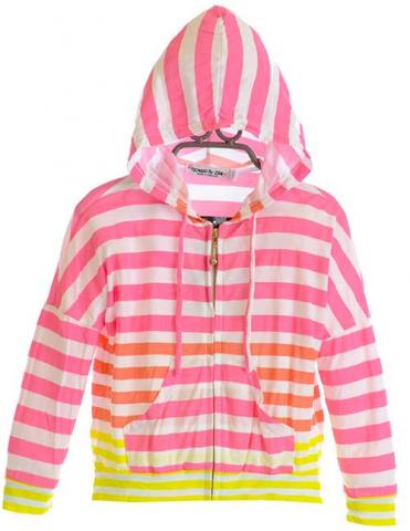 Girl's Lightweight Striped Hoodie