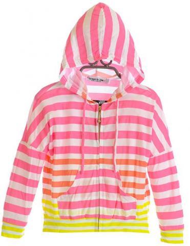 Girl's Lightweight Striped Hoodie