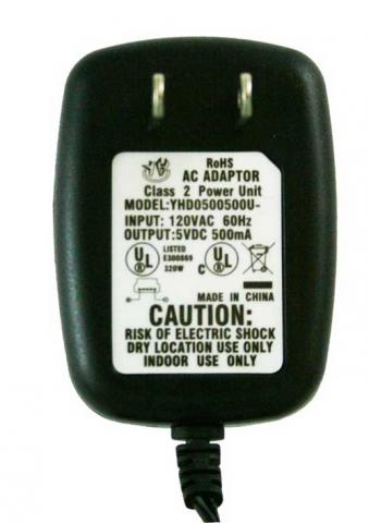 Ambient Weather radio AC power adapter label\n