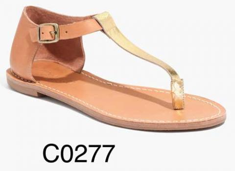 Sightseer T-Strap Thong Sandal in Metallic Colorblock