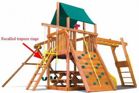 Rainbow Play Systems Recalls Plastic Yellow Trapeze Rings Cpsc Gov