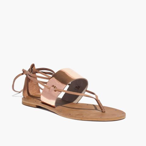 Recalled Katya model women's rose gold-colored sandal