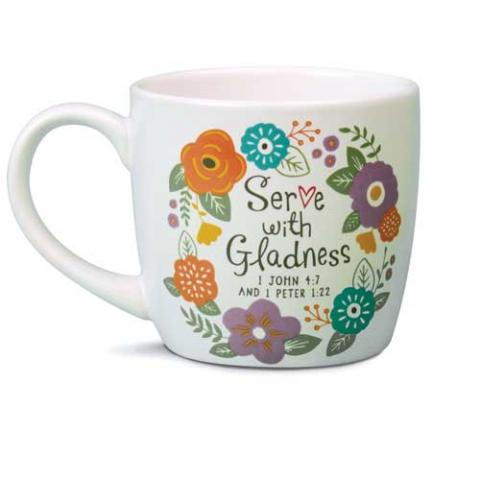 Model #18209 Serve with Gladness Mug
