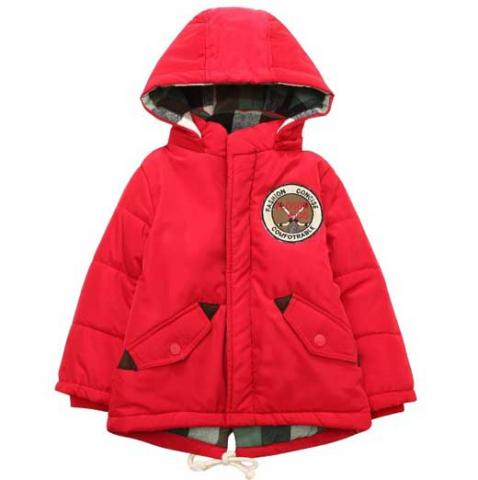 Padding Jacket with Hood RH1332-B (Red)