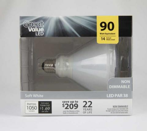 Great Value Lamp GVRLP381430WL in Packaging