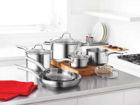 Martha Stewart CollectionTM 10-piece Stainless Steel Cookware Set