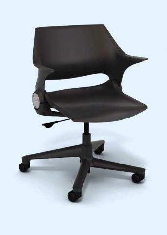 Steelcase swivel chair 2 (blue)