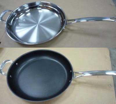 Connect by H-E-B fry pan and non-stick fry pan