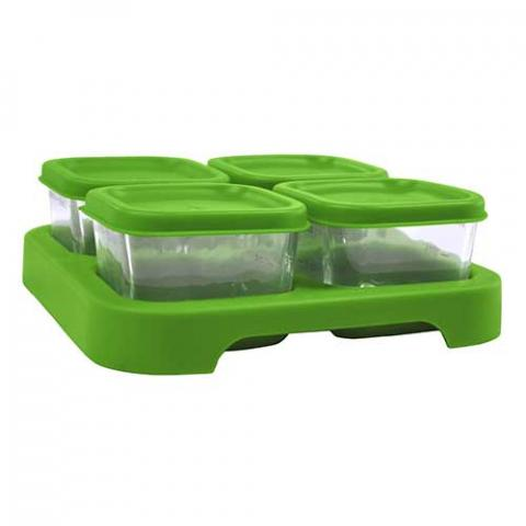 2- and 4-ounce glass food cubes and trays