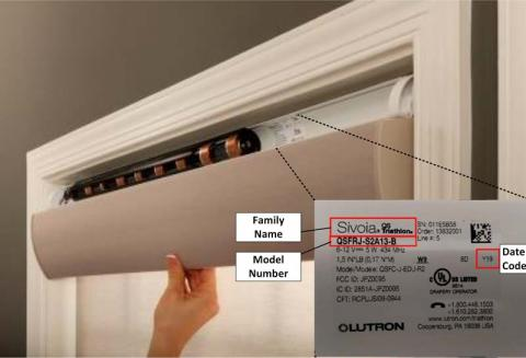 Lutron Electronics Battery Roller Shade