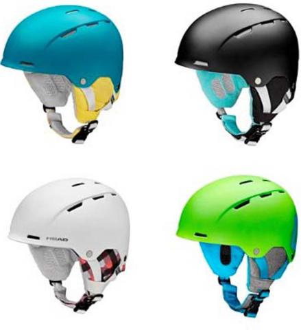 Head ski and snowboard helmets