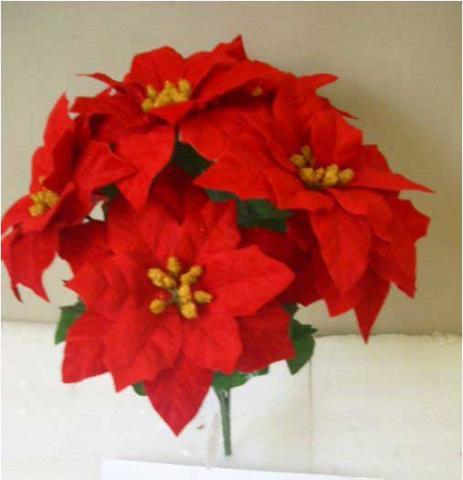 SKU 424066 Red Poinsettia Bush