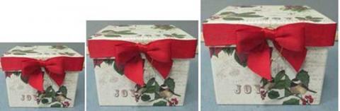 Cajas de papel navideñas para la temporada festiva1