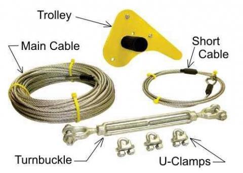 BYA Skyline backyard zipline kit