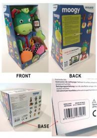 Packaging for Moogy toy