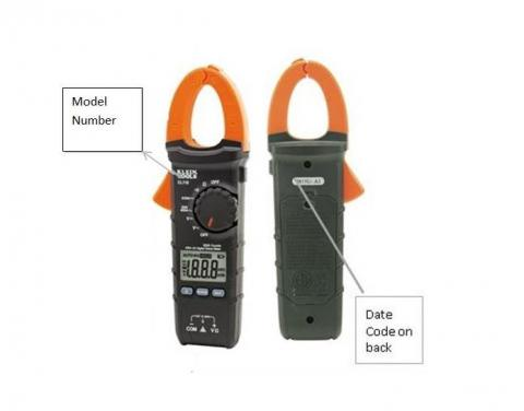 Recalled Klein Tools clamp meters
