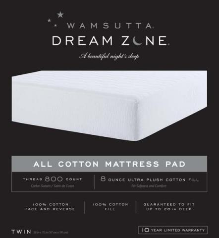 Hollander Sleep Products Recalls Mattress Pads Due To Violation Of