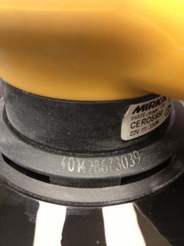 Serial number on sander