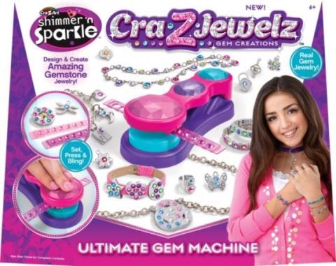 Shimmer N' Sparkle Cra-Z-Art Cra-Z-Jewelz Gem Creations Ultimate Gem Machine (UPC #884920174504)