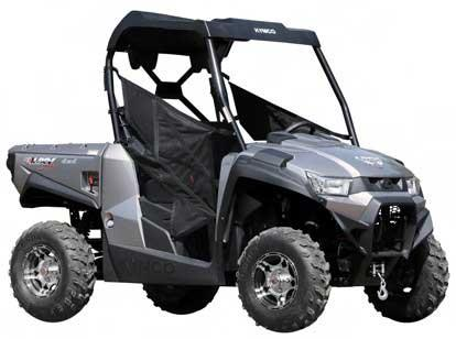 KYMCO utility vehicle model UXV 450i LE (gray, gold and matte black)