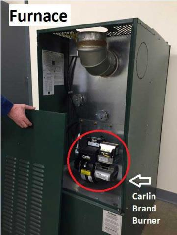 Carlin Brand Burner on Furnace