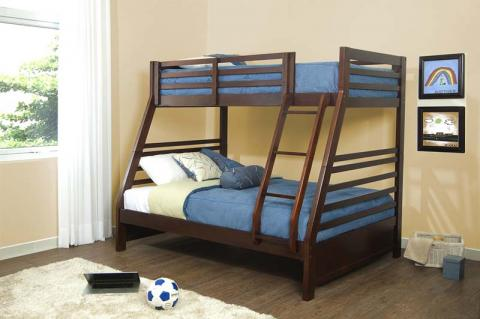 Chadwick bunk bed in mission oak (models 1245 and 1589)