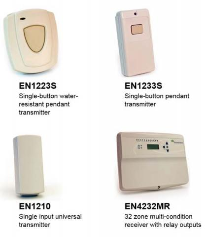Inovonics transmitters and receivers