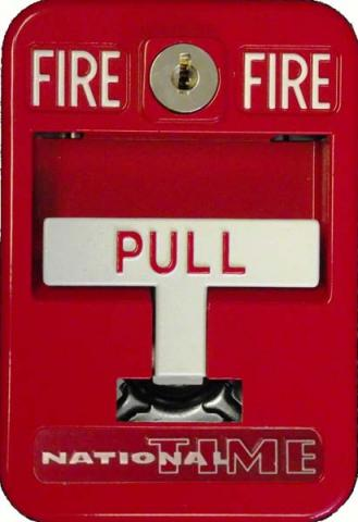 National Time & Signal fire alarm pull station