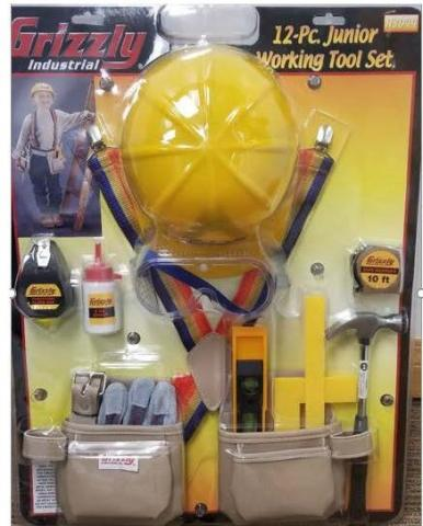 Recalled Grizzly Children's Tool Kit (Model# H3044)