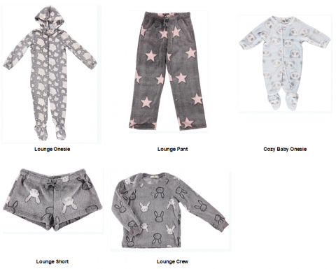 Recalled Ragdoll & Rockets children's loungewear