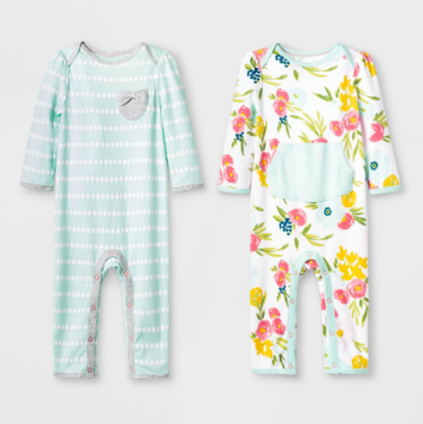 "Recalled Cloud Island ""Floral Fields"" and Mint Green Rompers"