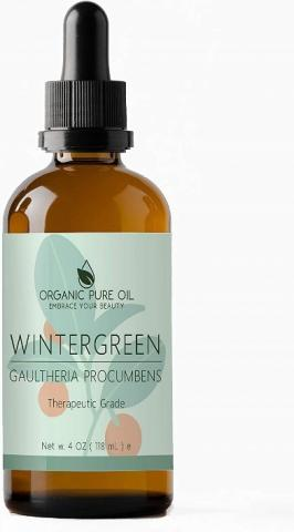 Recalled Organic Pure Oil Wintergreen Essential Oil – 4 fl. oz (118 mL)
