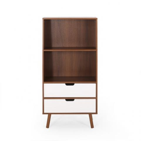 Recalled HM #66760.00WALNWHT 2-drawer storage unit